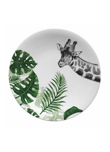 Kütahya Porselen Doğadakiler 27 cm Servis Tabağı Zürafa Renkli